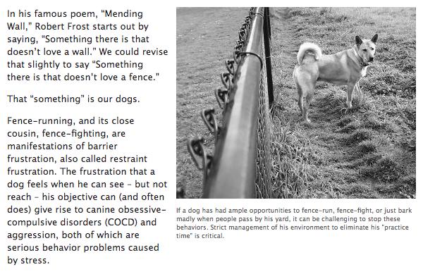 Better Designed Fences Make Better Dogs